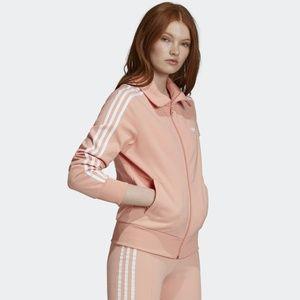 Adidas Front Zip Three Stripe Track Jacket